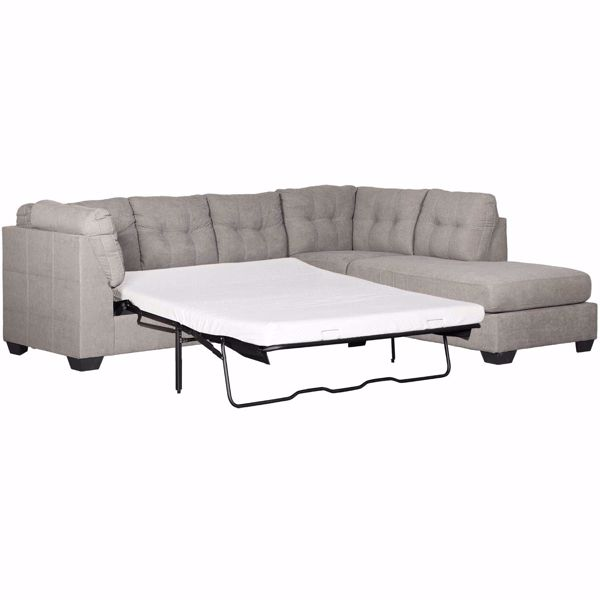 Picture of Maier Charcoal 2 Piece Sleeper Sectional with RAF Chaise