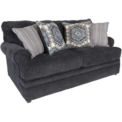 Picture of Bellamy Slate Blue Loveseat