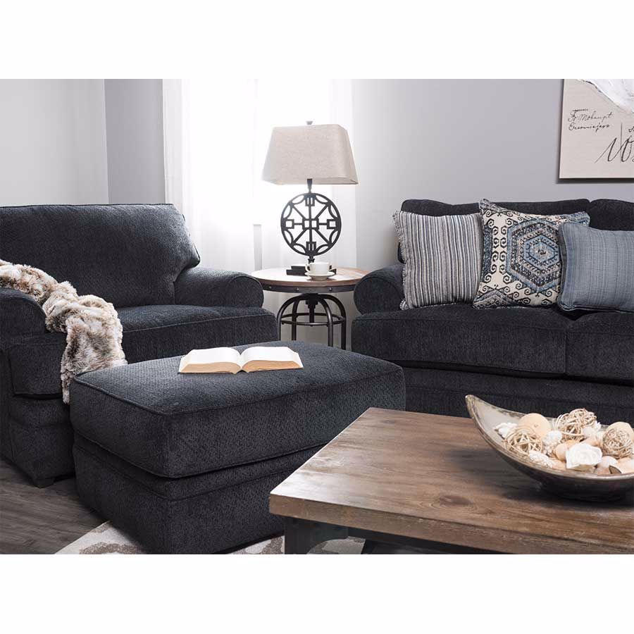 Picture of Bellamy Slate Blue Ottoman
