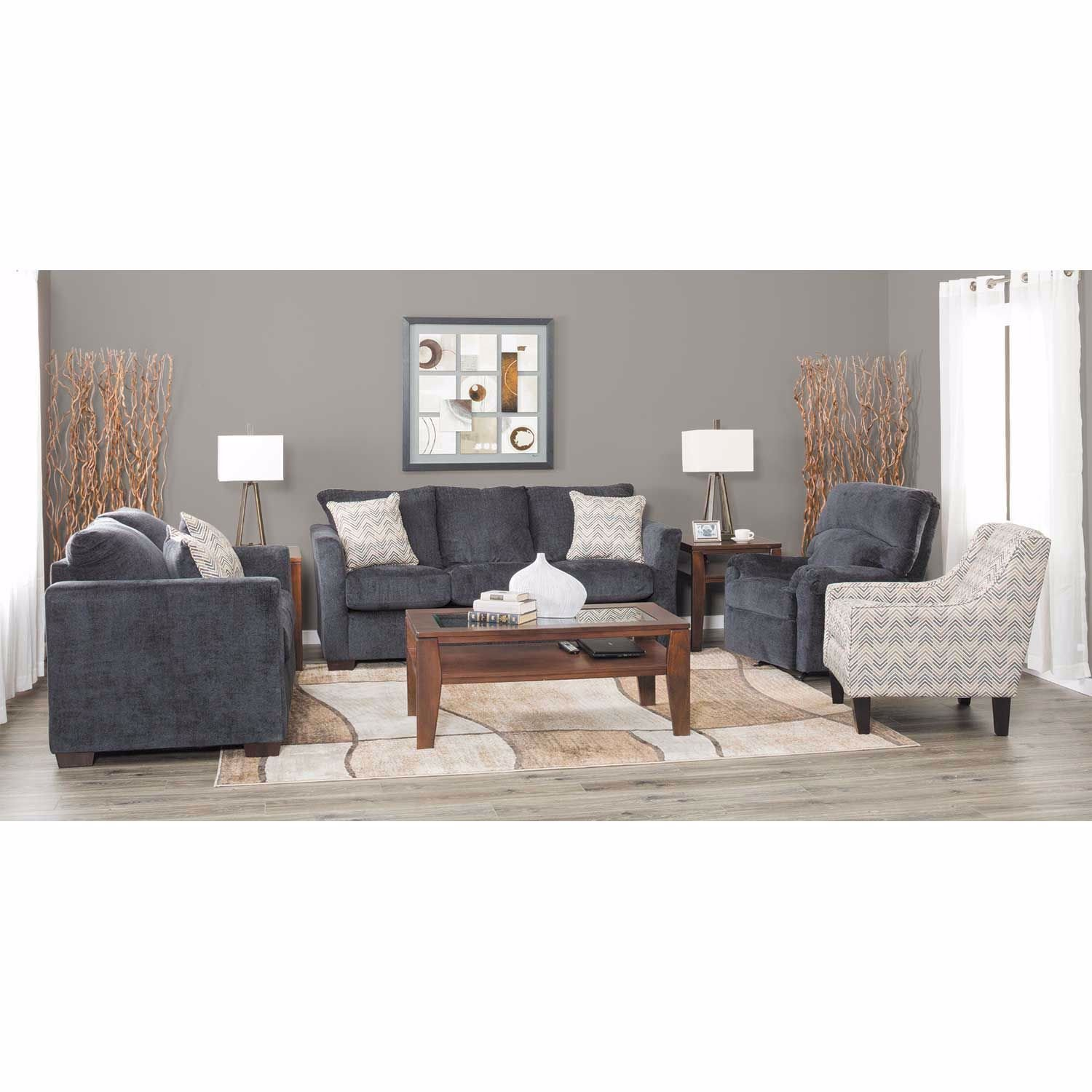 Picture of Webster Slate Storage Ottoman