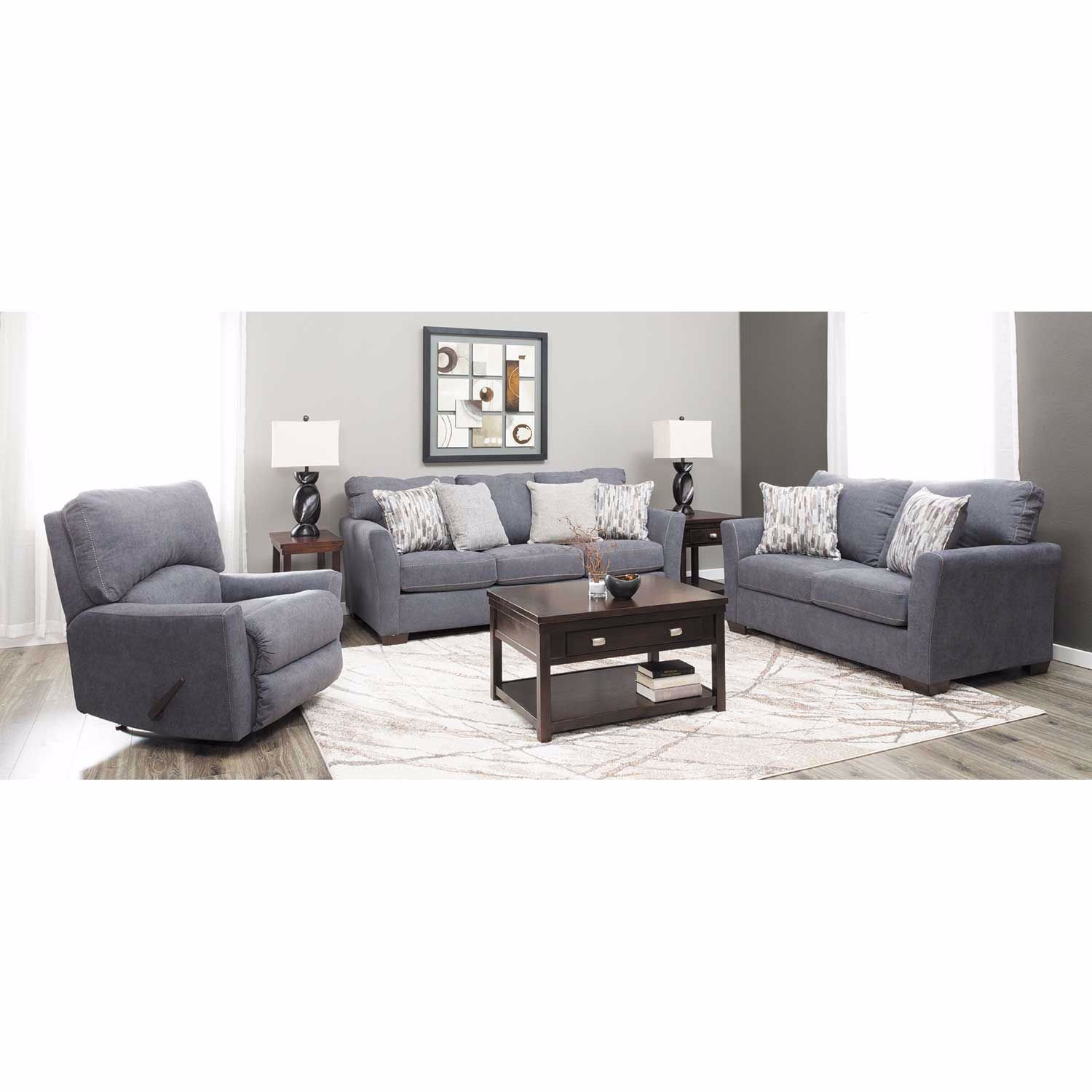 Picture of Pacific Blue Power Rocker Recliner