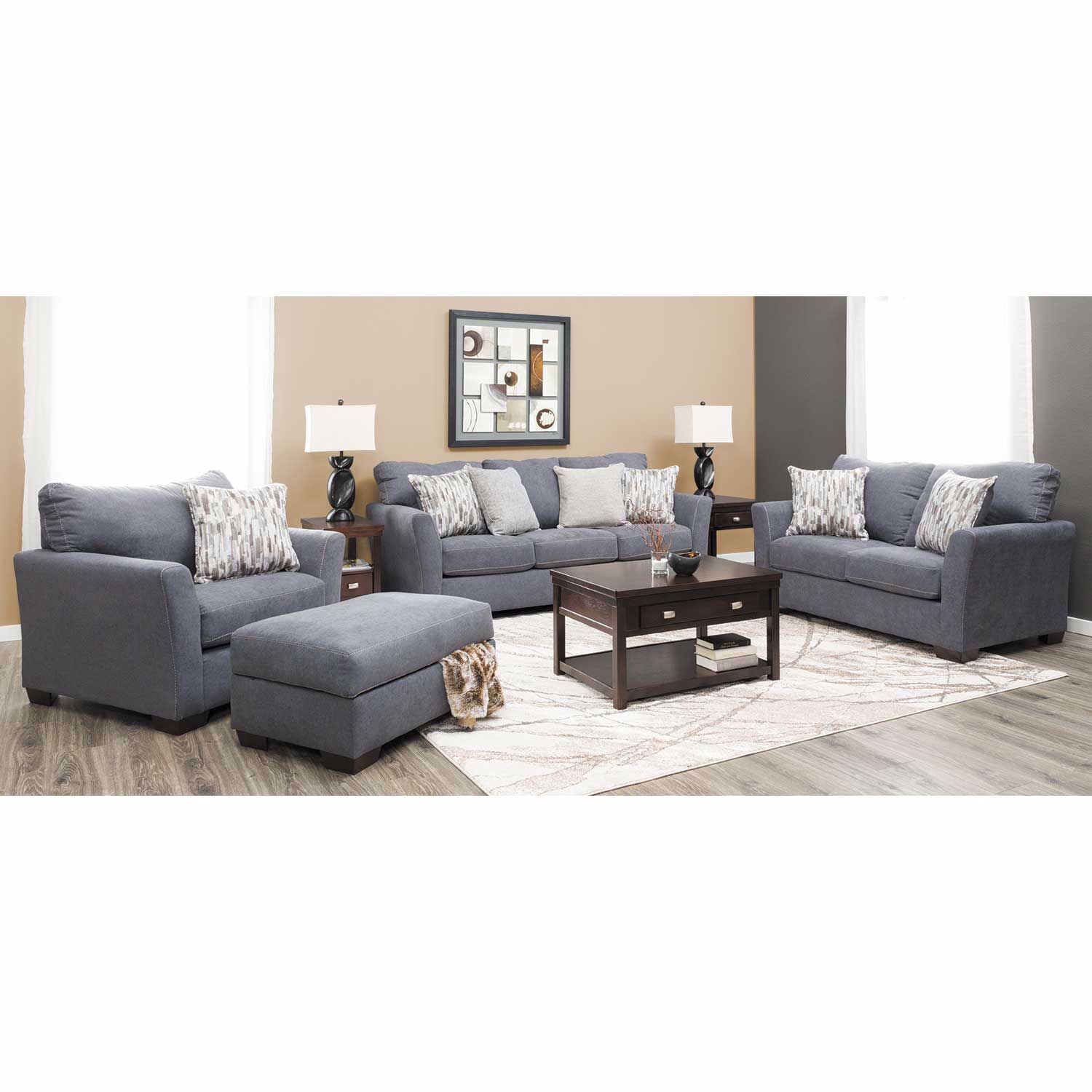 Picture of Pacific Blue Storage Ottoman