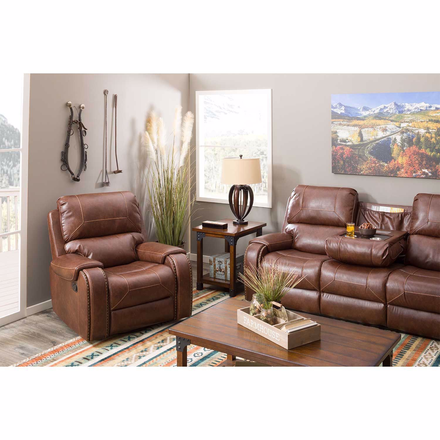 Picture of Clifton Reclining Sofa with Drop Table