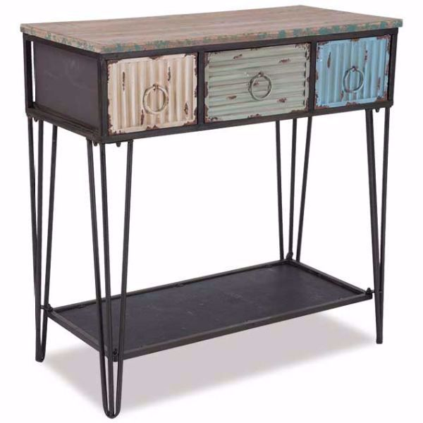 Picture of Three Drawer Console Table
