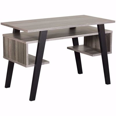 Picture of Gray and Black Computer Desk