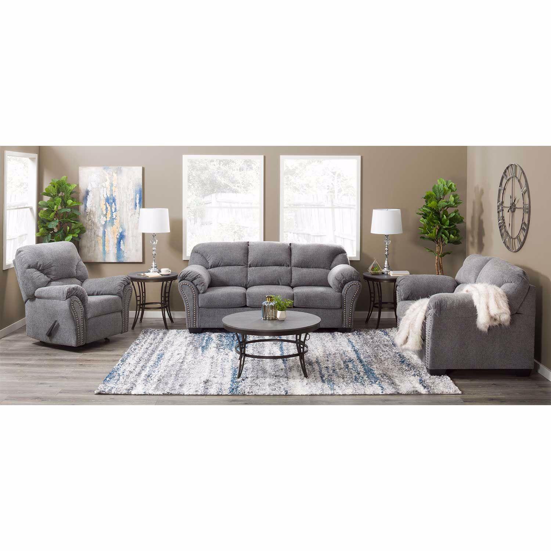 Allmax Pewter Loveseat 2810535 Ashley Furniture Afw Com