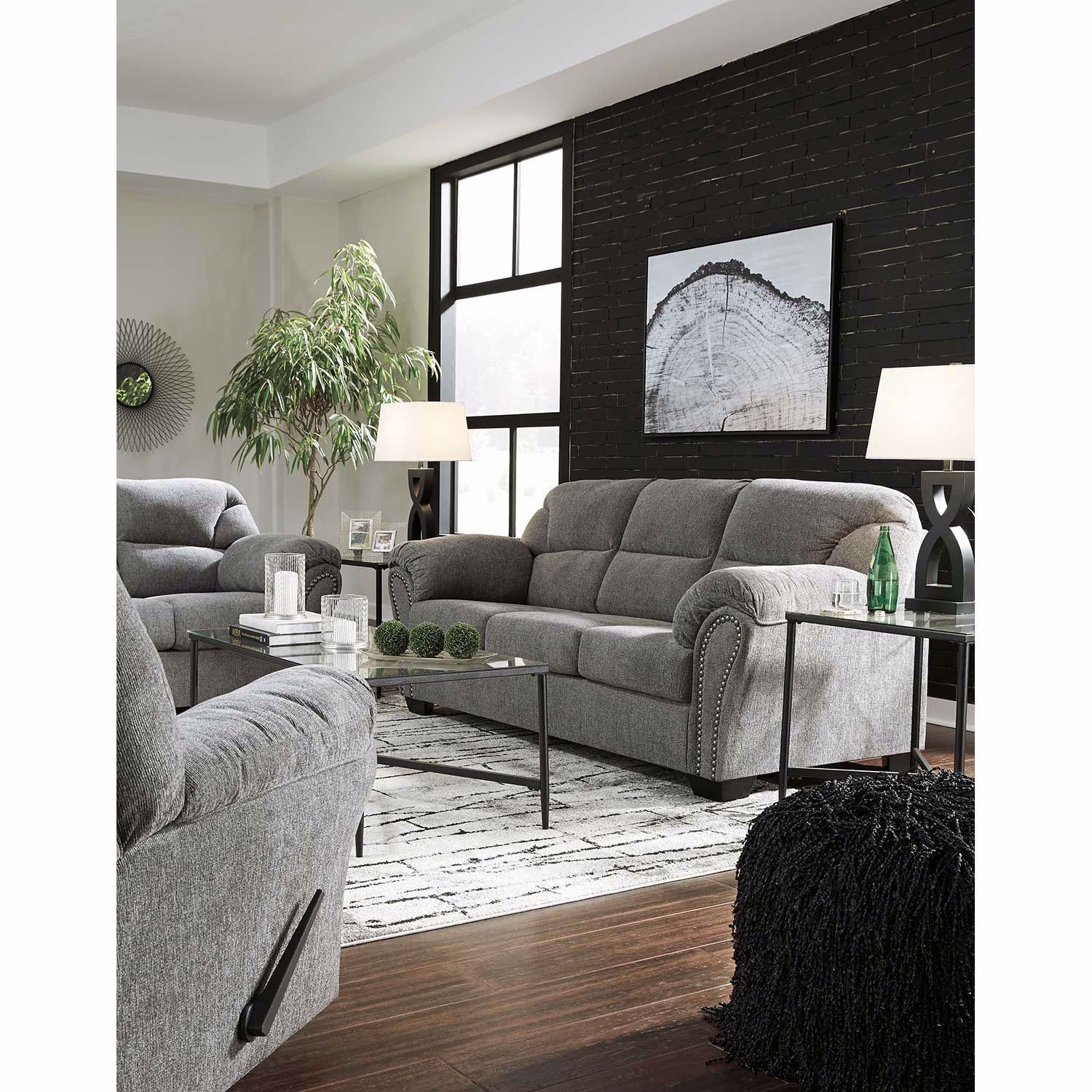 Picture of Allmax Pewter Loveseat