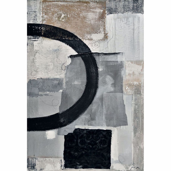 Picture of Black Grey Abstract 31x47