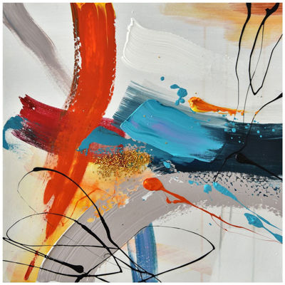 Picture of Red Blue Orange Abstract