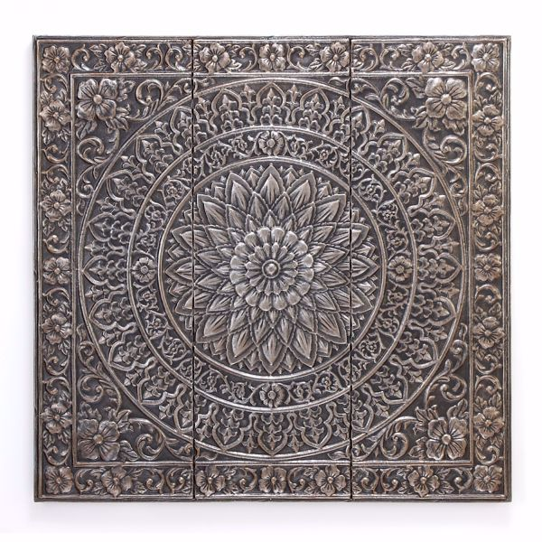 Picture of Metal Square Medallion Wall Decor