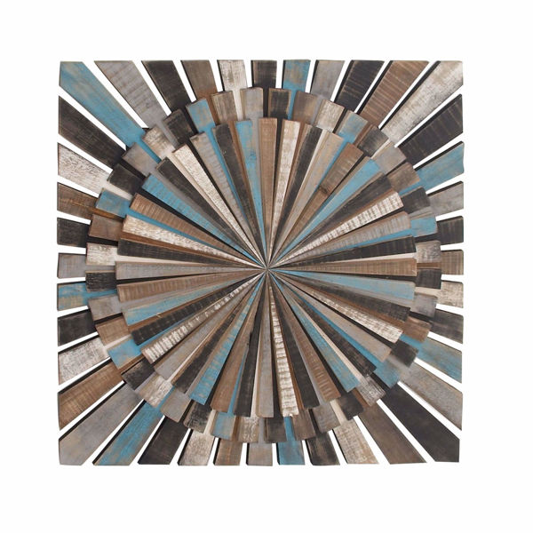 Picture of Blue Brown Wood Wall Decor