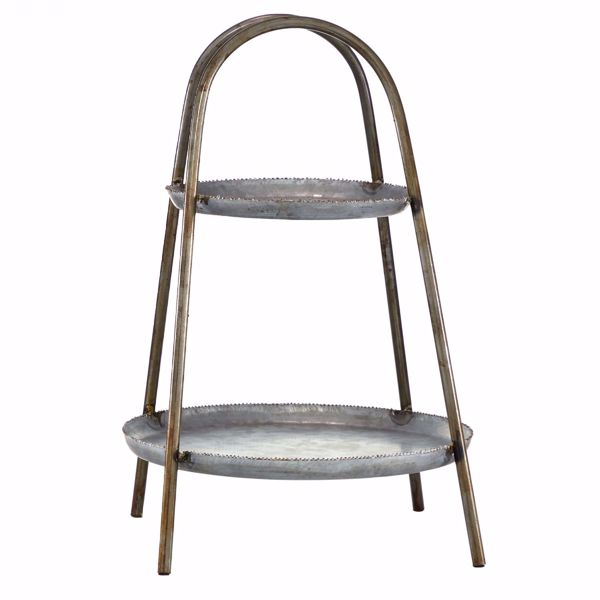 Picture of 2 Tier Metal Round Tray