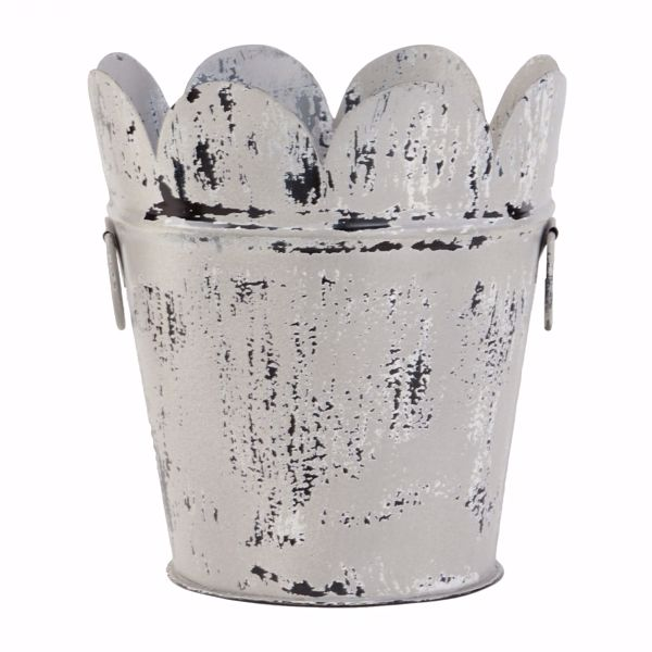 Picture of Blue Metal Planter