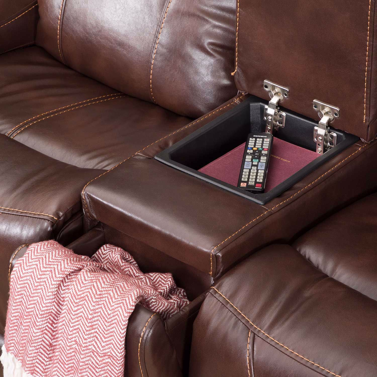 Picture of Gia Power Recline Console Loveseat with Adjustable