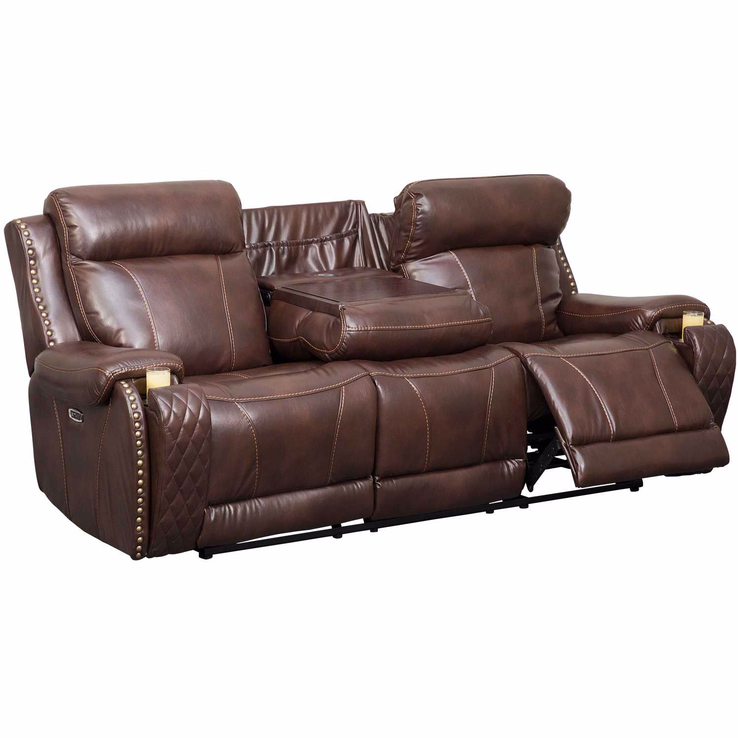 Picture of Gia Power Recline Sofa with Adjustable Headrest