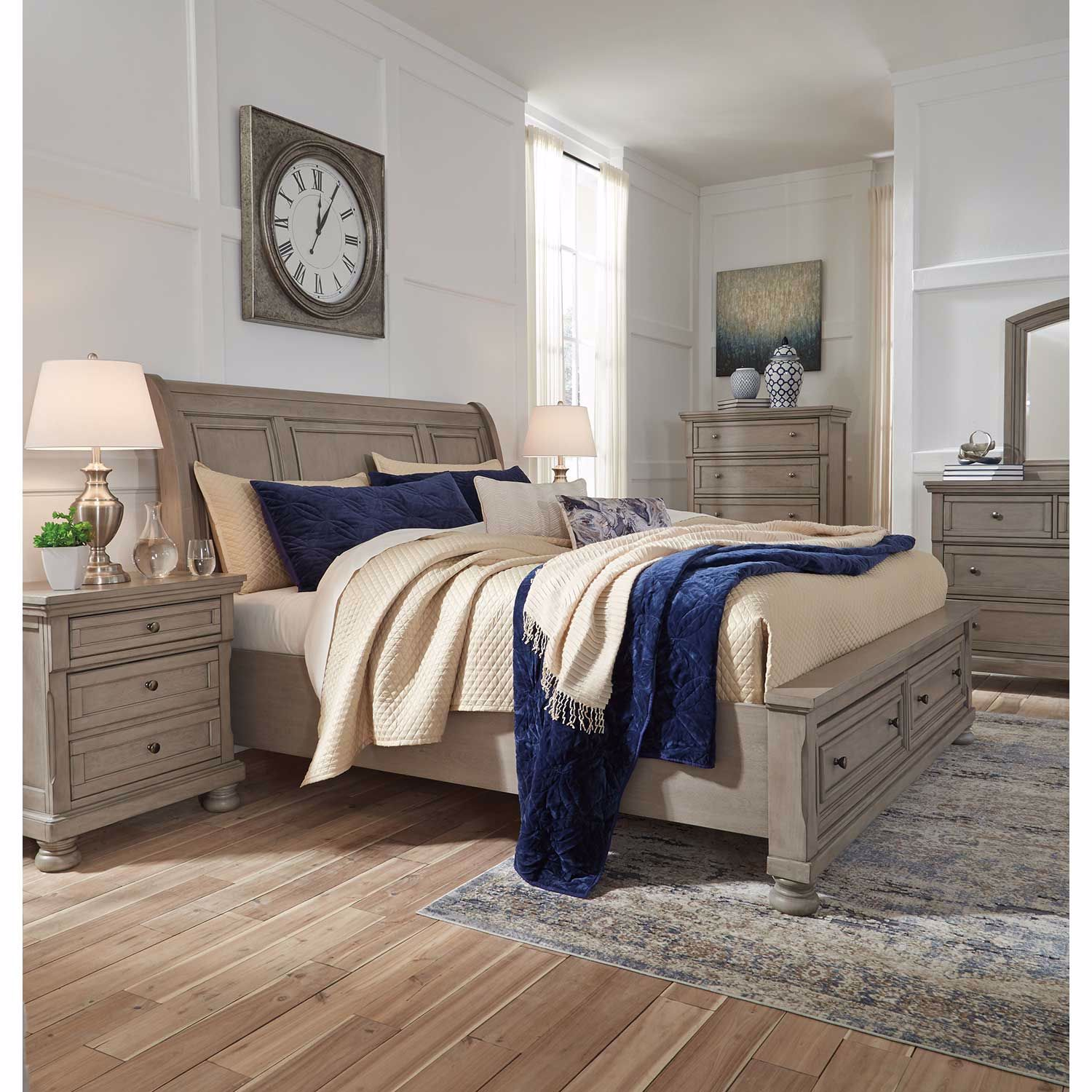 Picture of Lettner King Storage Bed