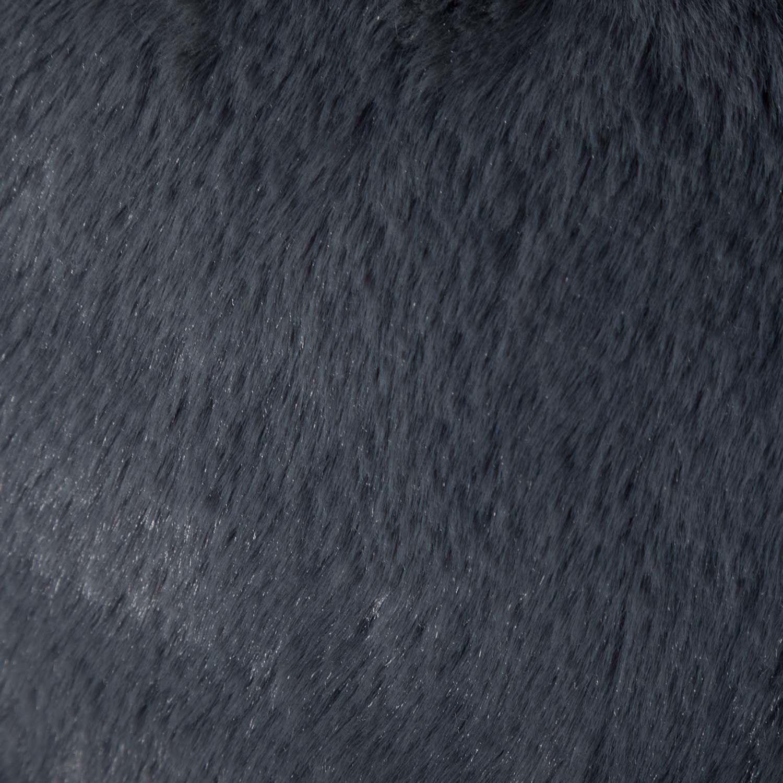 Picture of Charcoal Faux Rabbit Fur Pouf *P