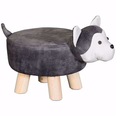 Picture of Gray Dog Ottoman