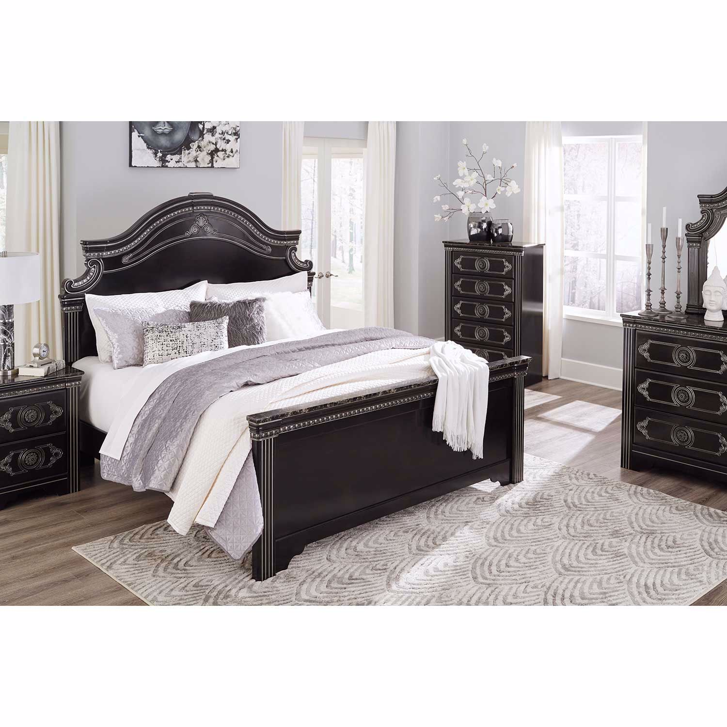 Picture of Banalski King Panel Bed