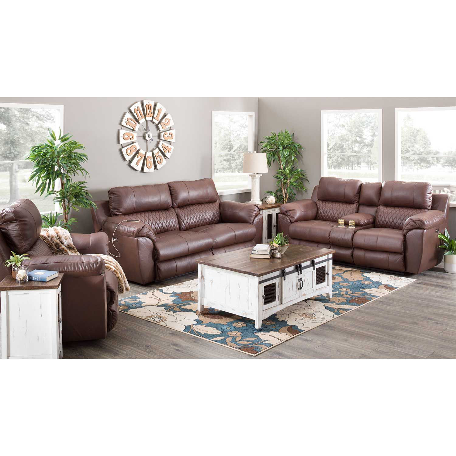 Picture of Sorrento Italian Leather Power Recliner