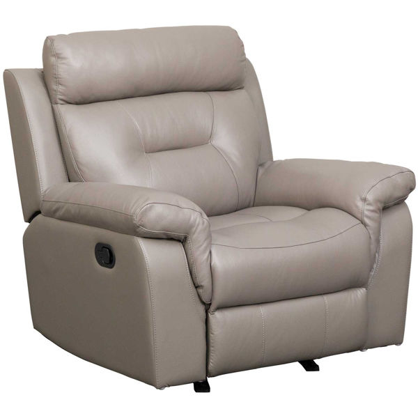 Picture of Watson Light Gray Leather Rocker Recliner