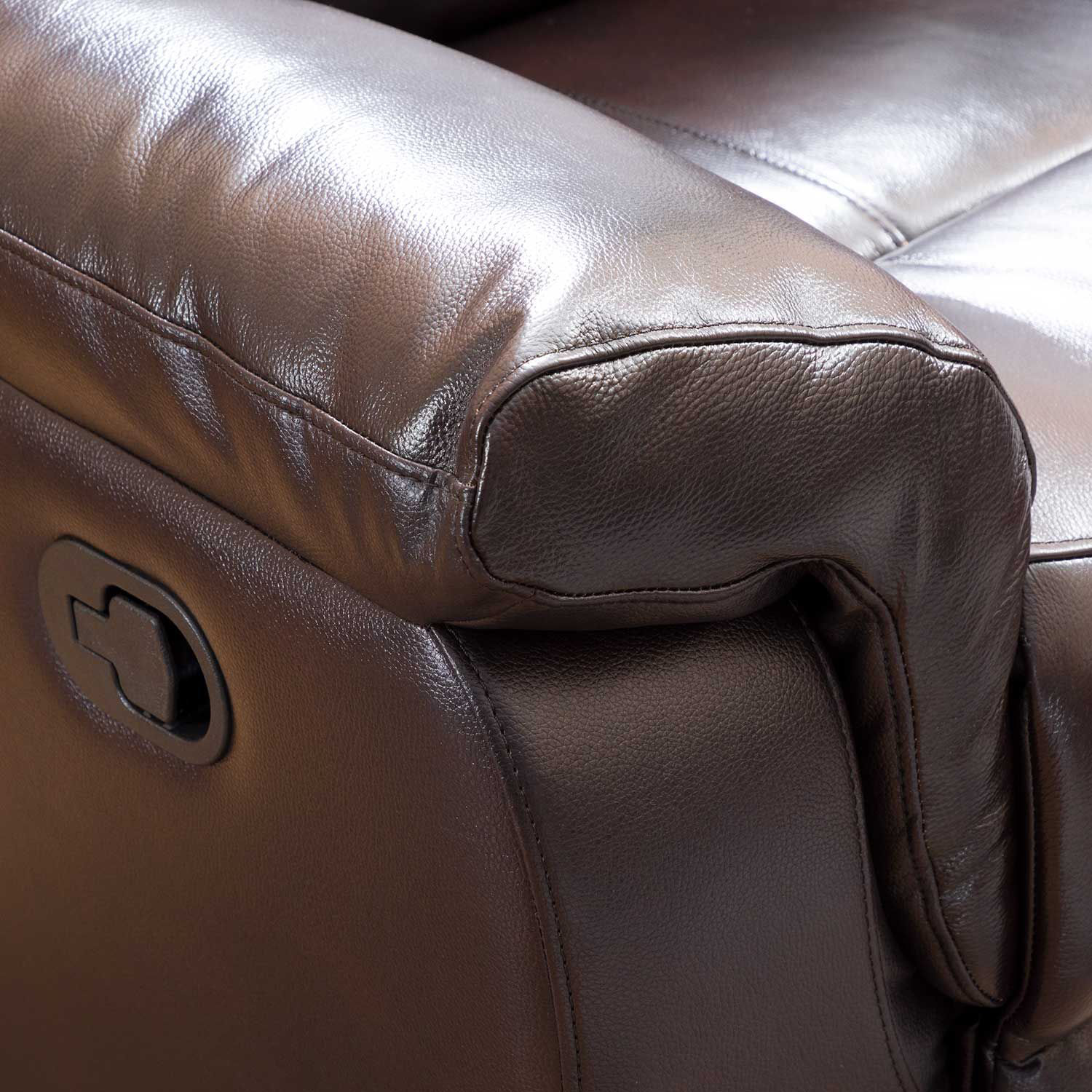 Picture of Watson Brown Leather Rocker Recliner