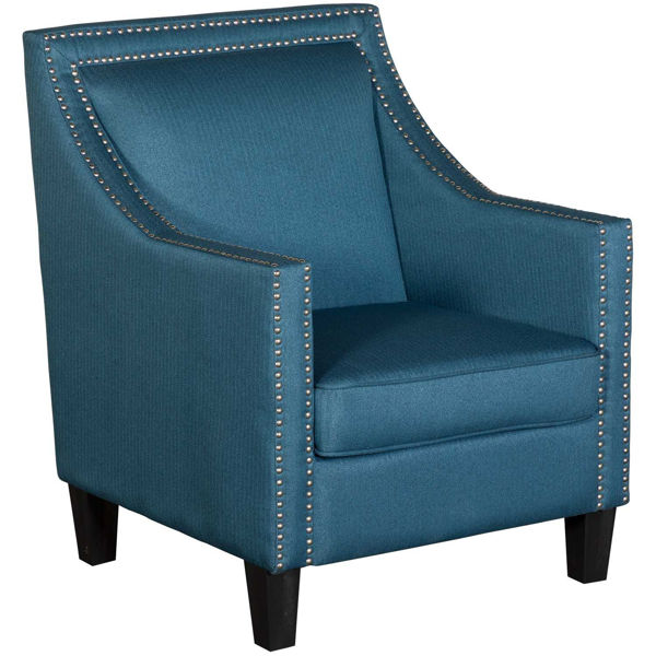 Picture of Malika Blue Accent Chair