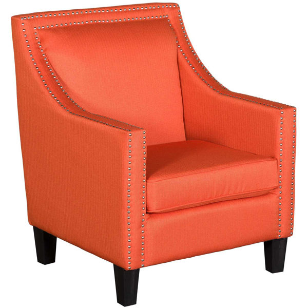 Picture of Malika Orange Accent Chair