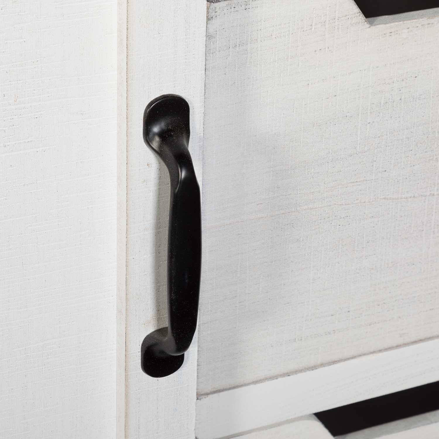 Picture of White Barn Door Cabinet