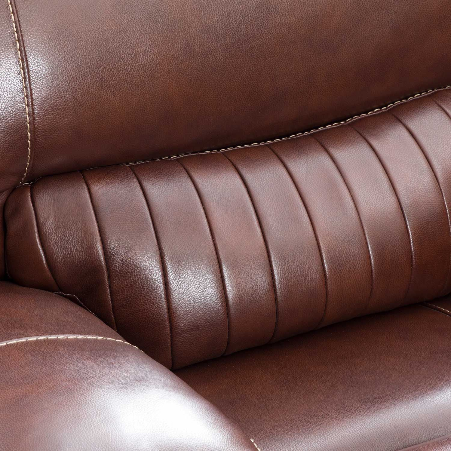Picture of Rigby Brown Leather Power Recline Console Loveseat