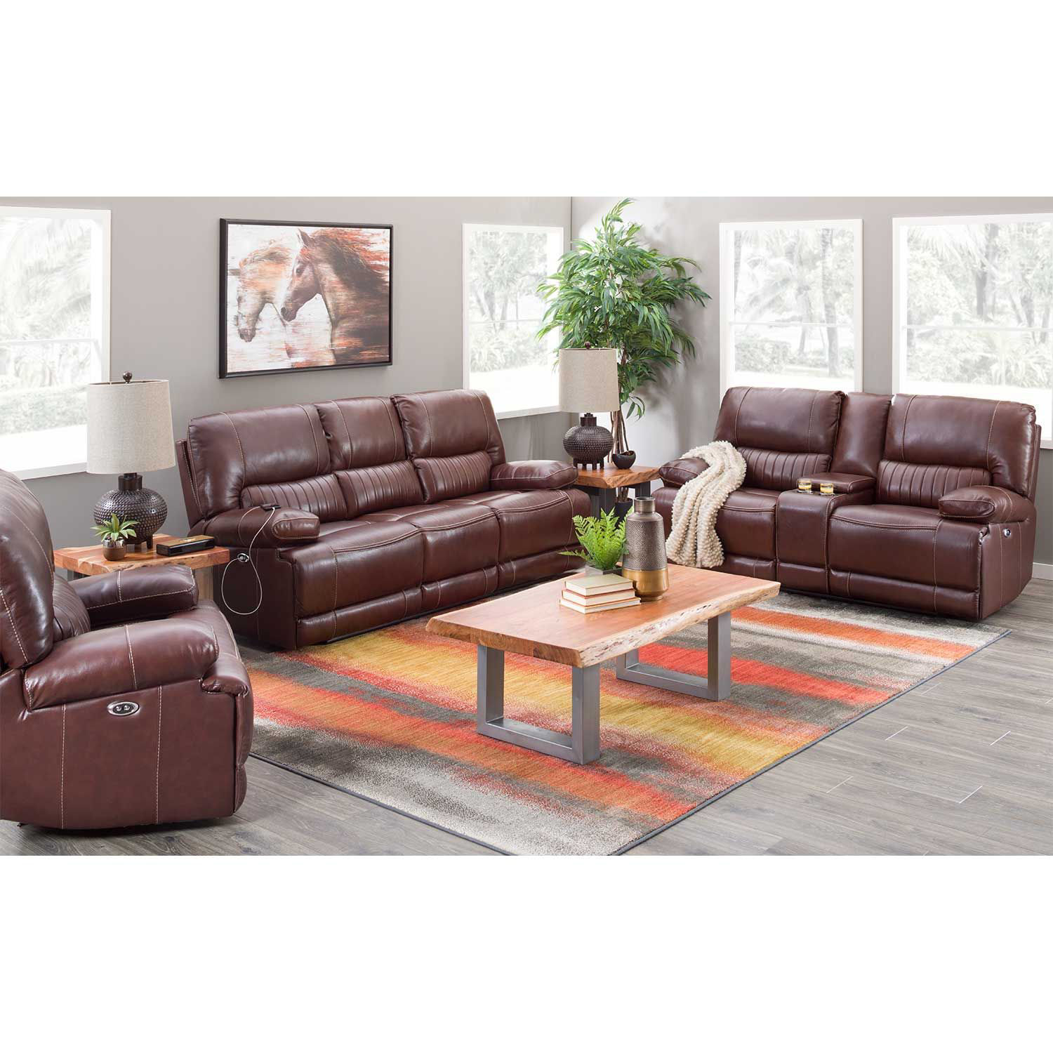 Picture of Rigby Brown Leather Recliner