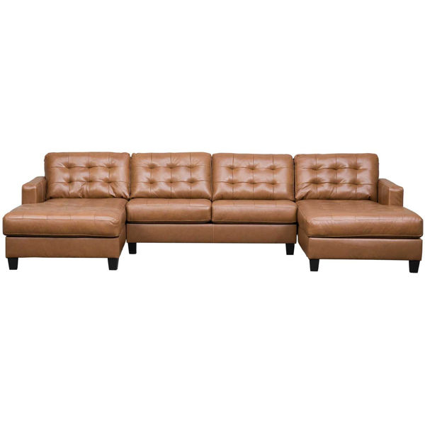 Picture of 3pc Italian Leather Sectional with LAF/RAF Chaise