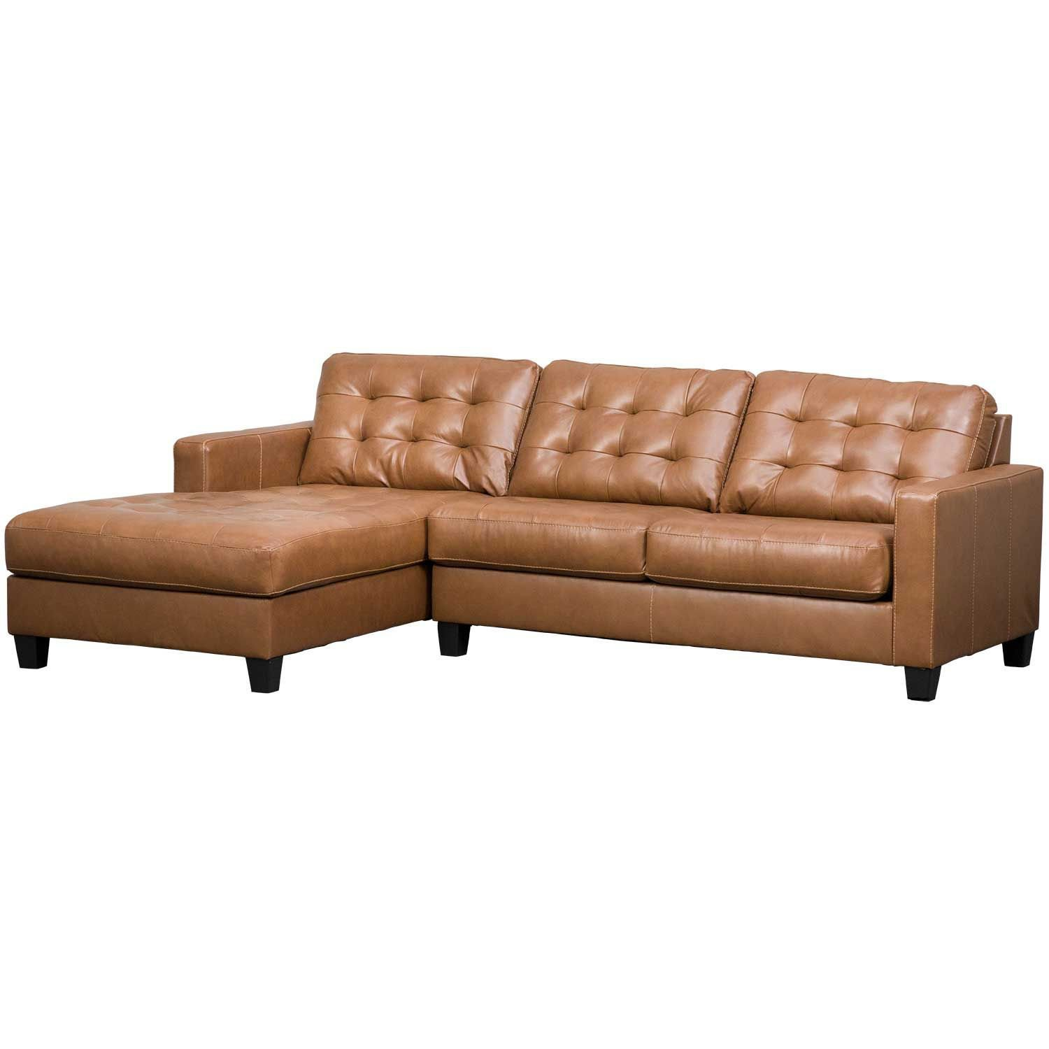 6 Pc Nicole Espresso Bonded Leather Sectional Sofa With ...