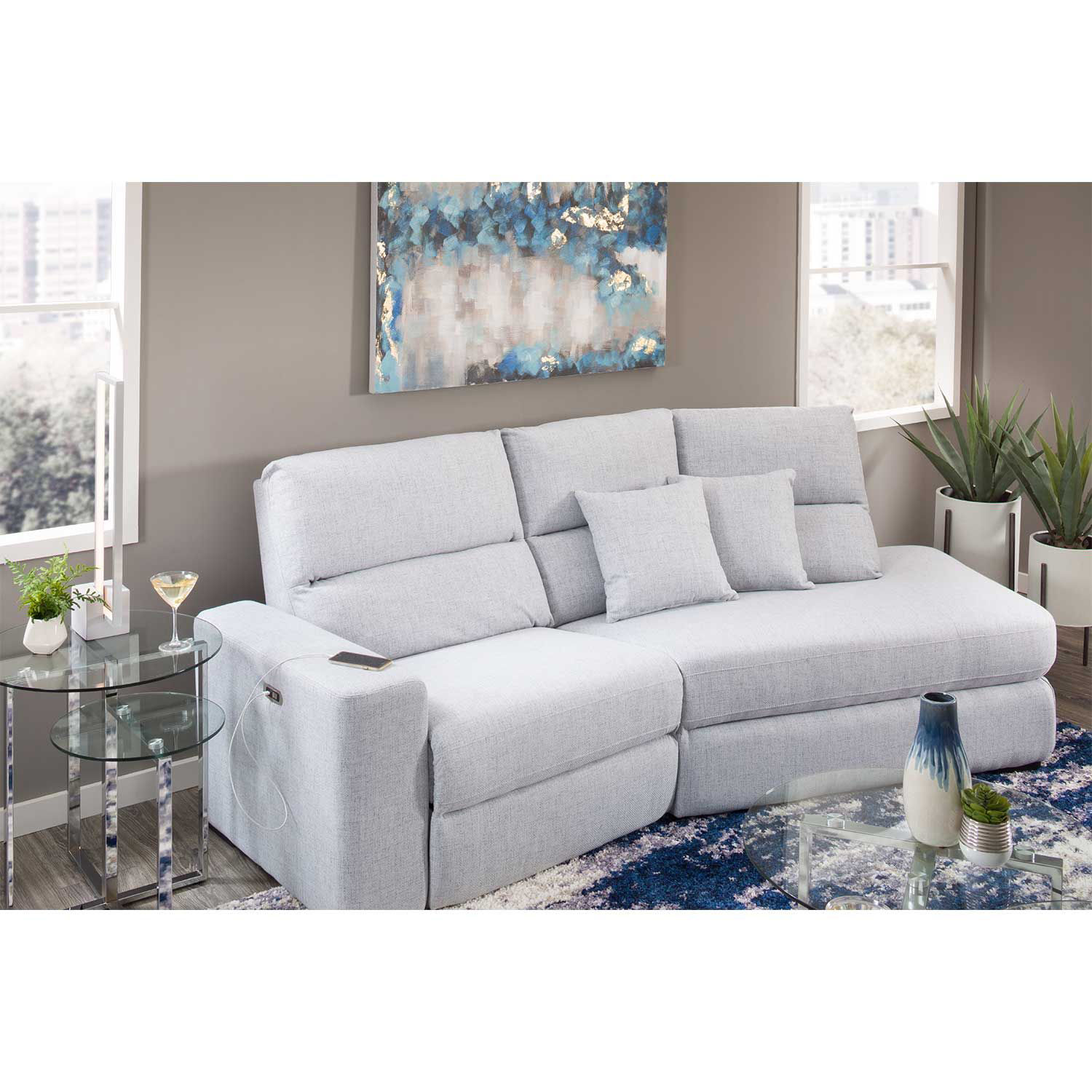 Picture of Luna 2 Piece Power Recline Sectional with RAF Chai