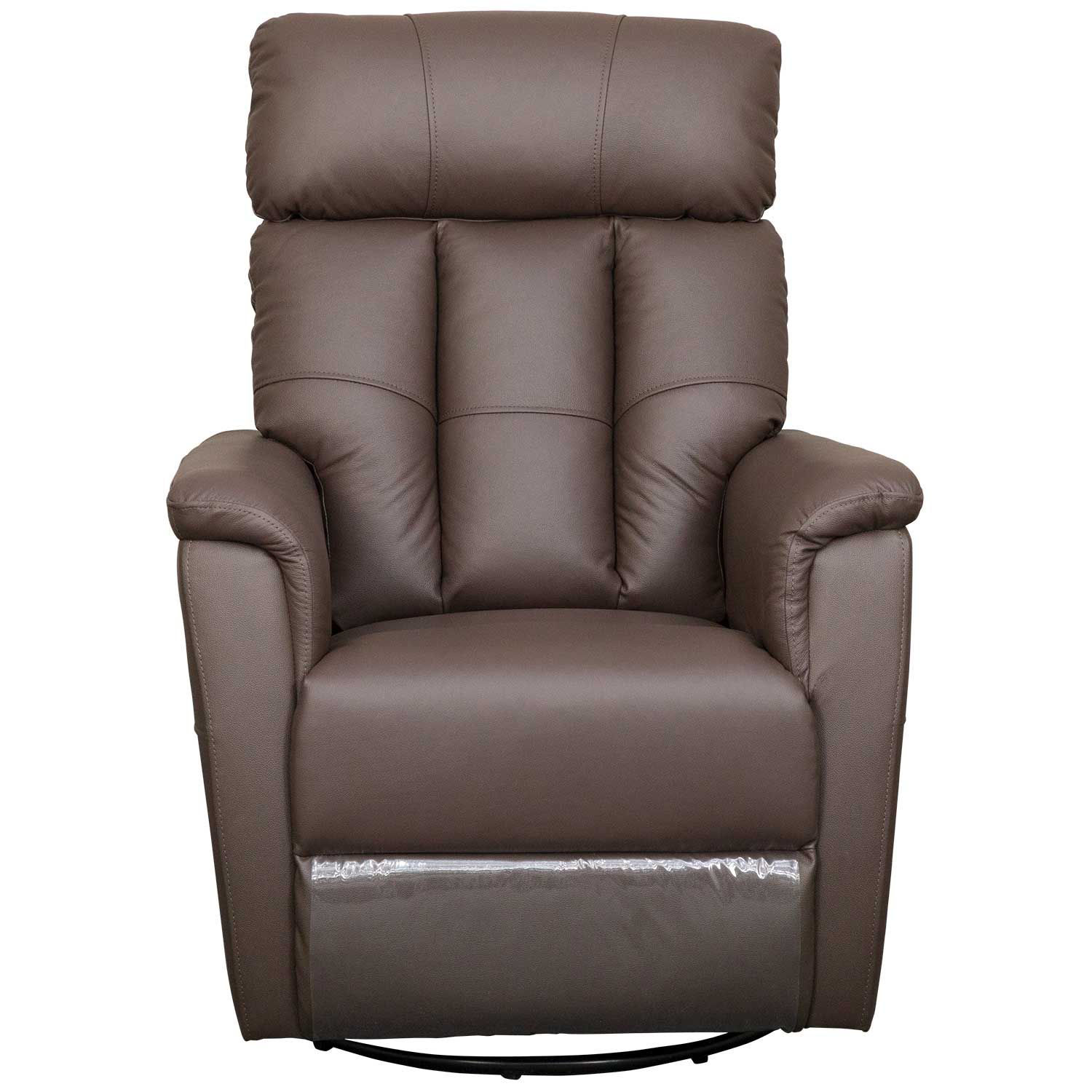 Picture of Remus Brown Leather Power Swivel Rocker Recliner