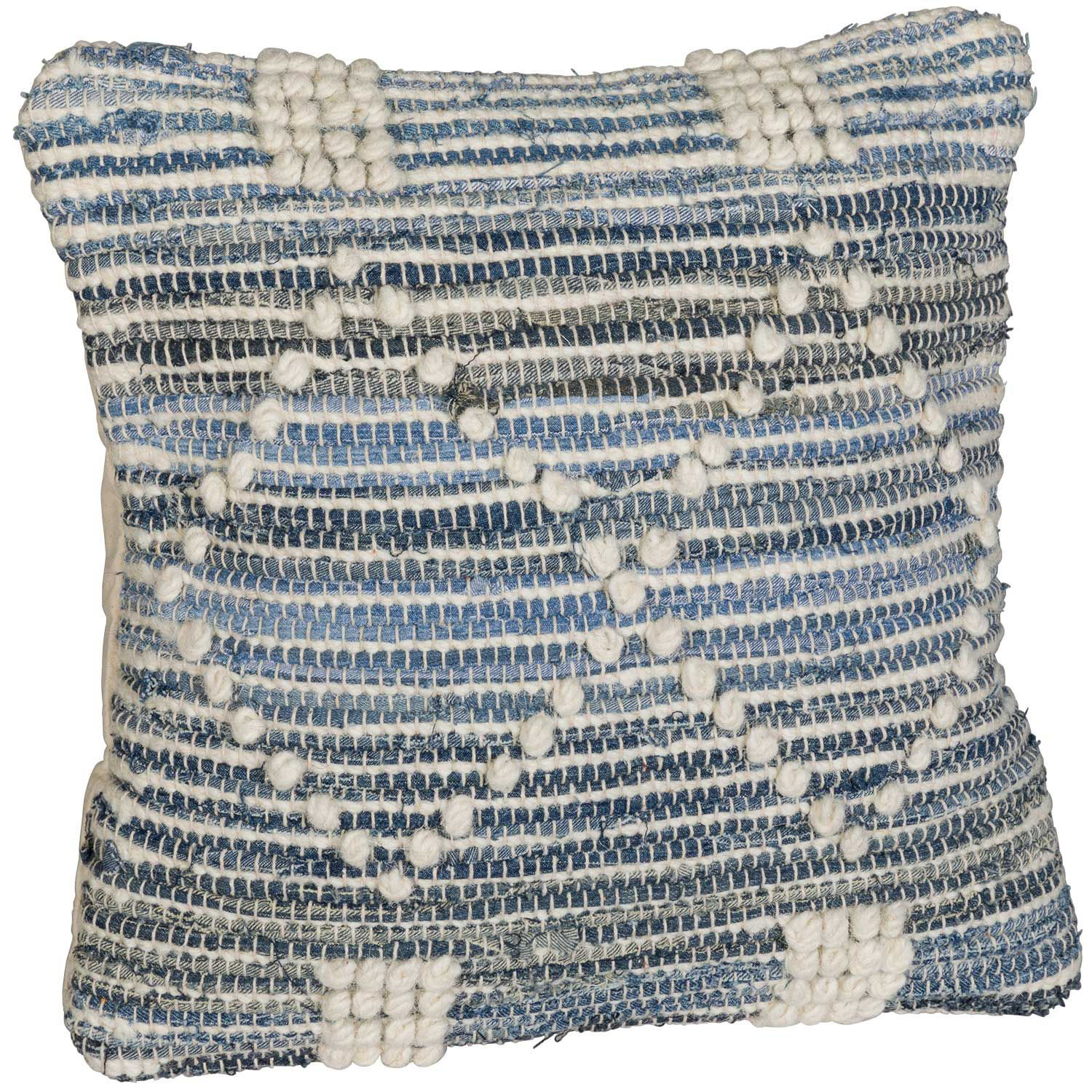 Picture of Berclair Blue and Ivory 18x18 Pillow *P