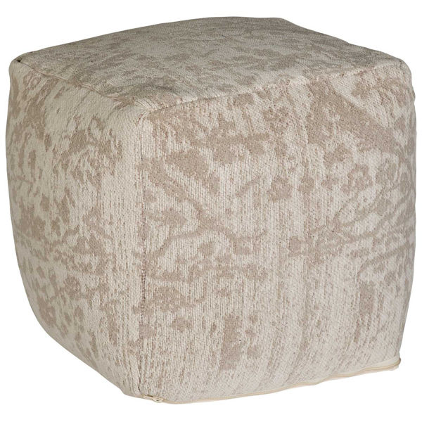 Picture of Bilbur Ivory and Gray Pouf *P