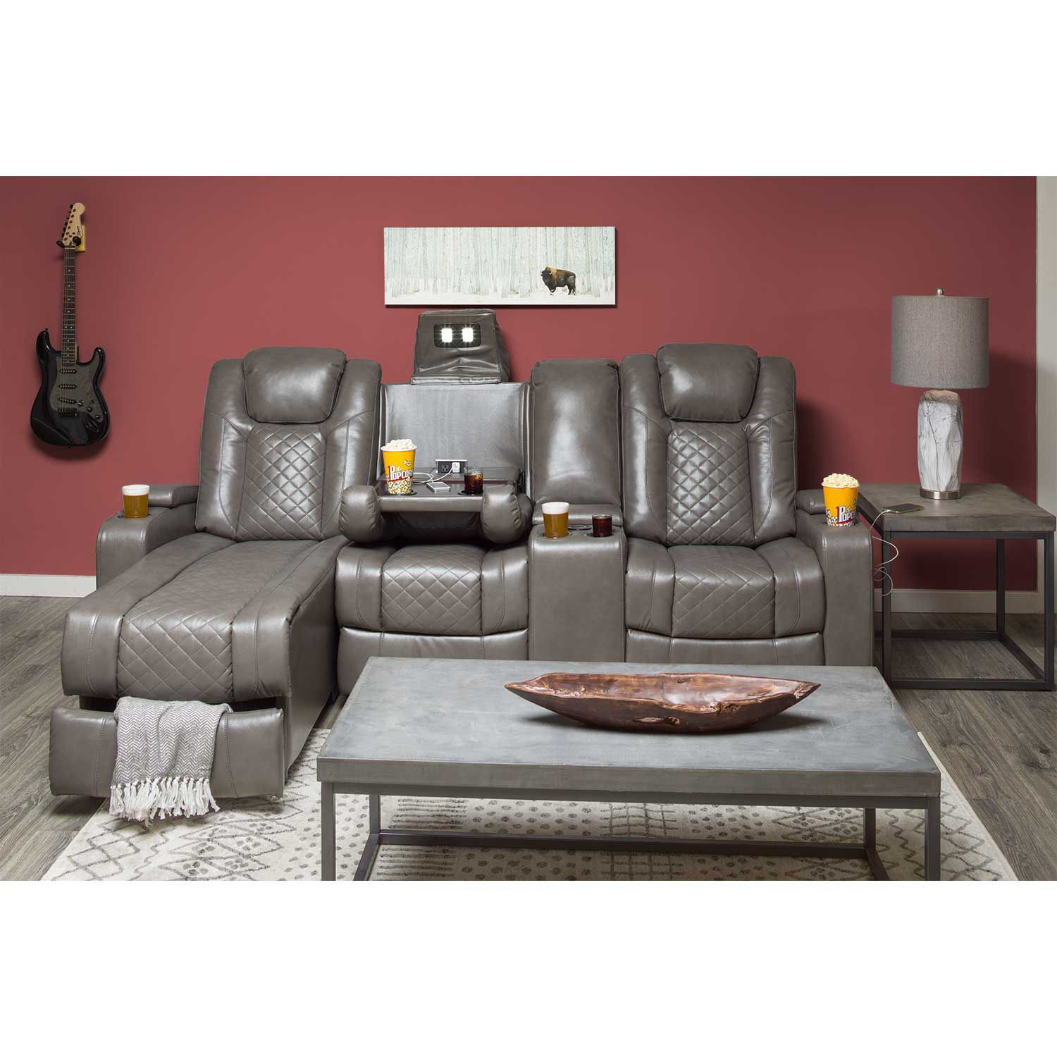 Picture of 2PC Power Recline Sectional (RAF) with Adjustable Headrest