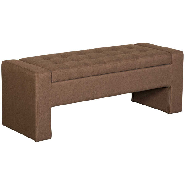 Picture of Lyla Brown Tufted Storage Bench