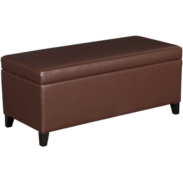 Picture of Conrad Lift Top Brown Storage Bench