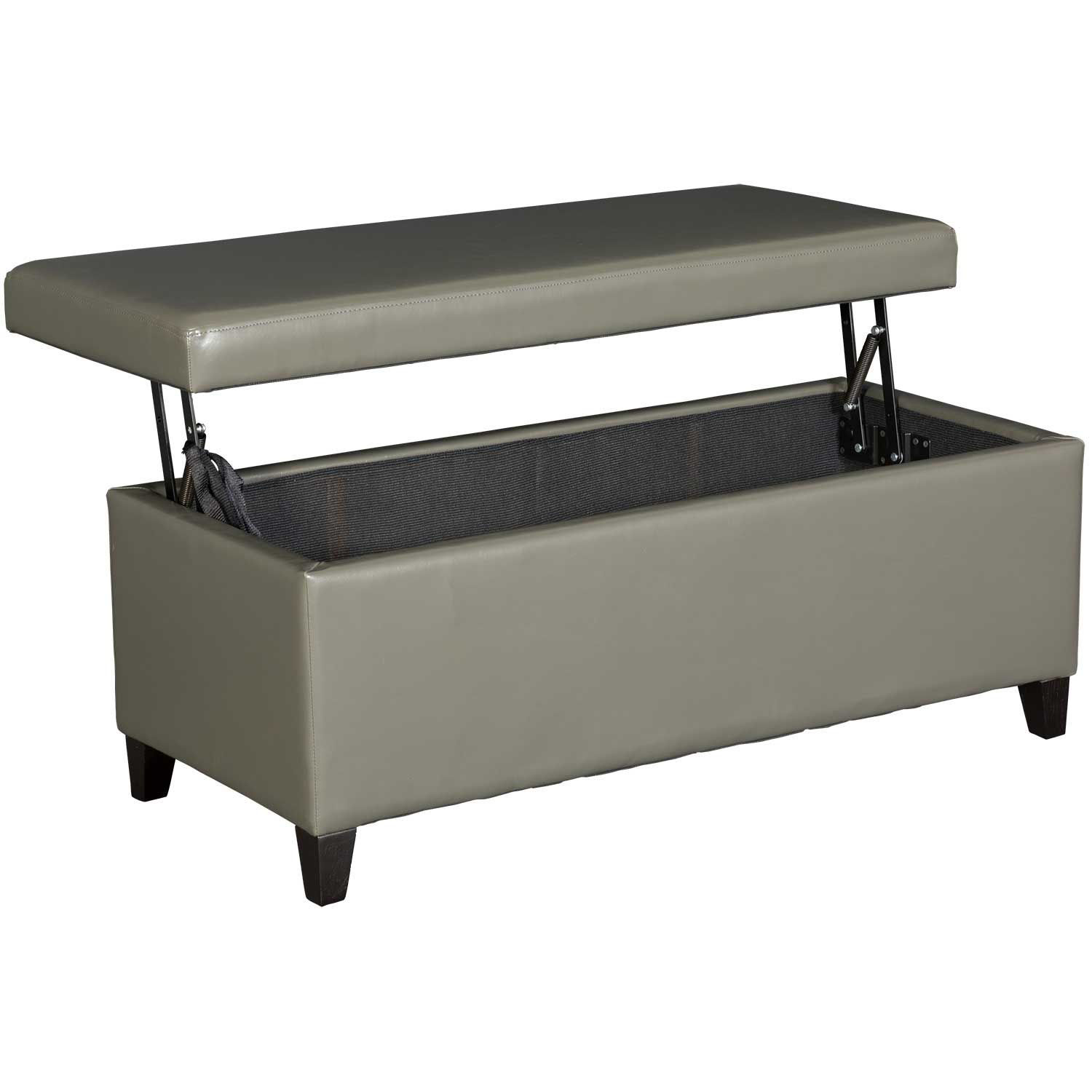 Picture of Conrad Lift Top Gray Storage Bench