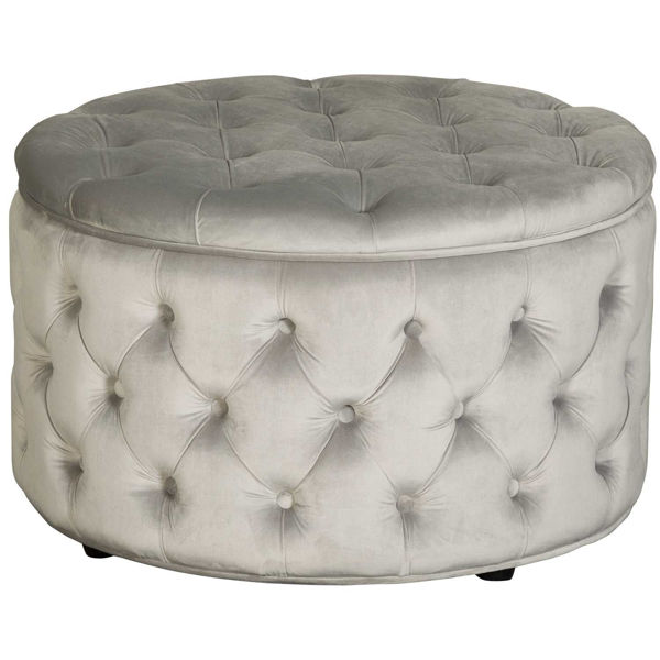 Picture of Callista Tufted Gray Storage Ottoman