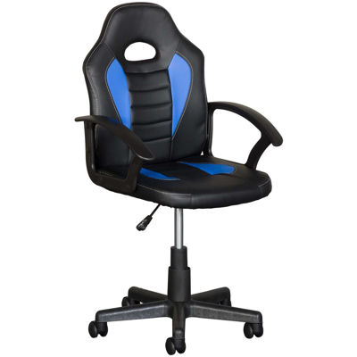 Picture of Black and Blue Kids Racing Chair