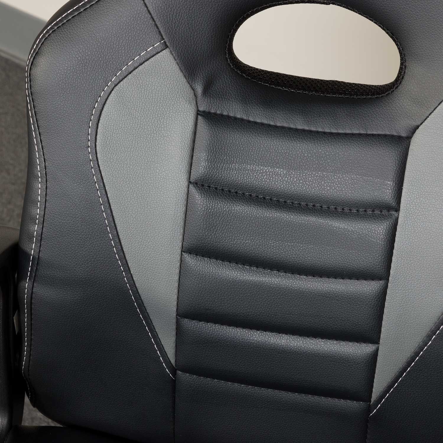 Picture of Black and Gray Kids Racing Chair