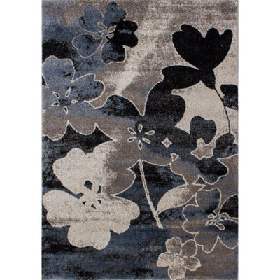 Picture of Breeze Blue Floral 5x8 Rug