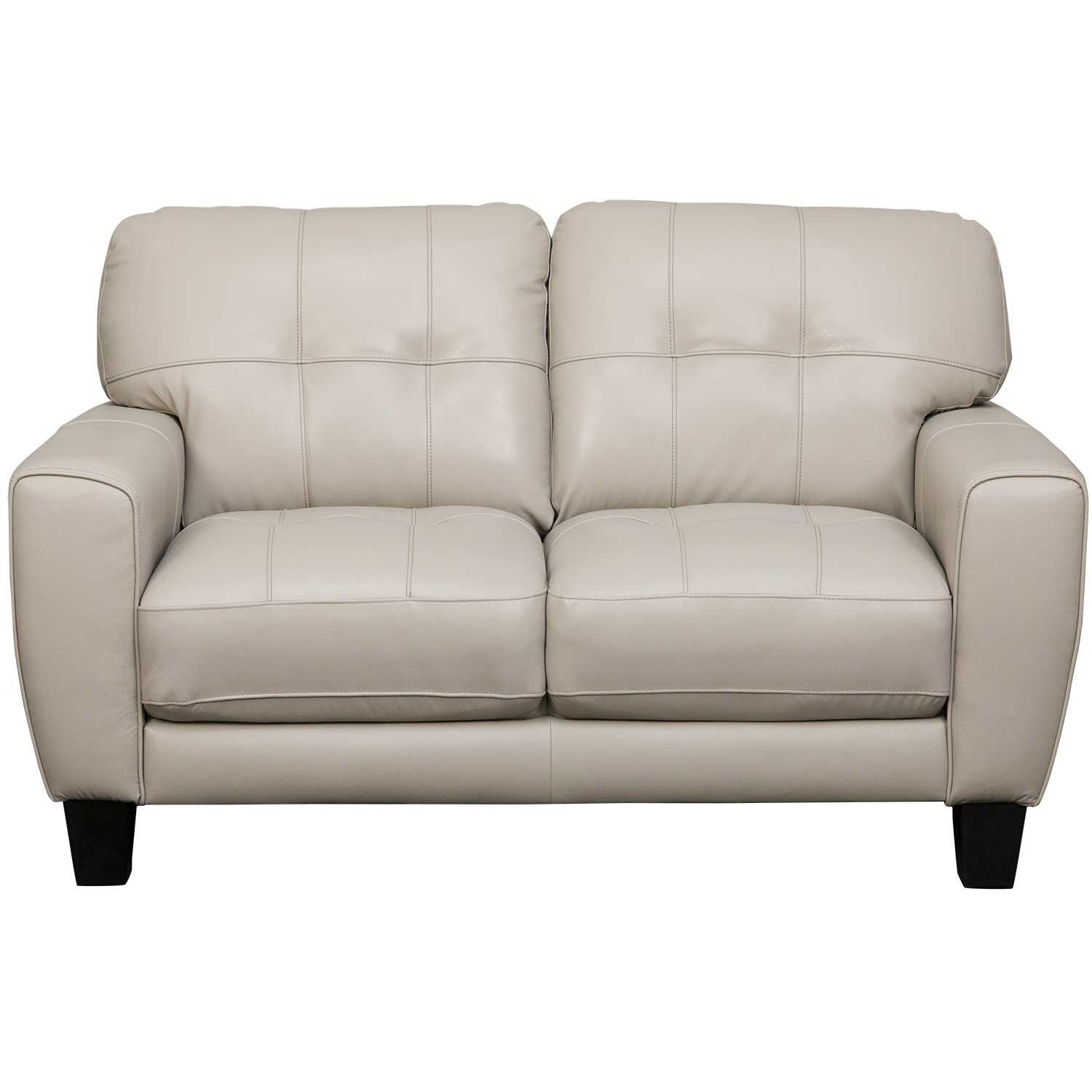 Picture of Aria Taupe Leather Loveseat