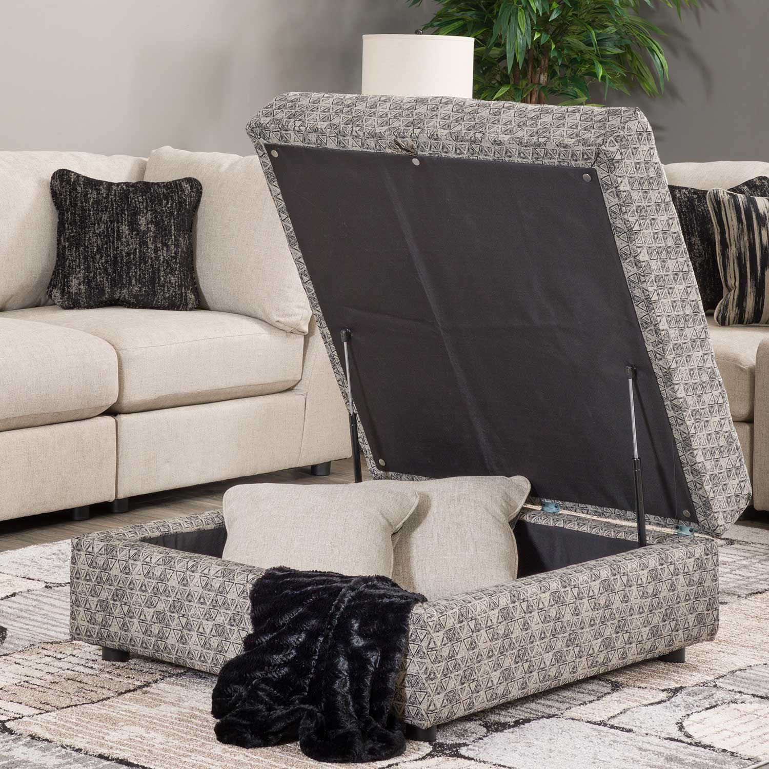 Picture of Kellway Triangles Storage Ottoman