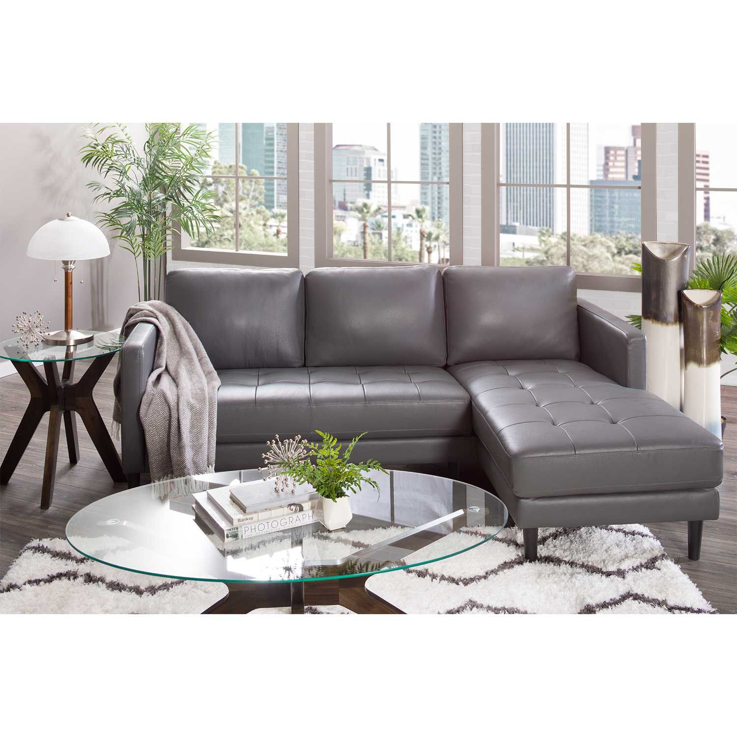 Picture of Rebel Leather Sofa with RAF Chaise