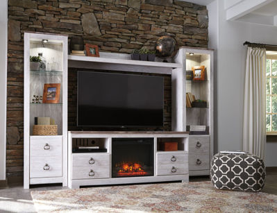 Picture of Willowton Wall Unit With Electric Fireplace