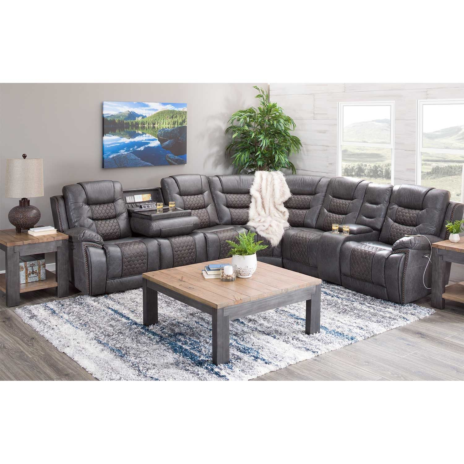 Picture of Tempo 7 Piece Power Reclining Sectional with Adjustable Headrest